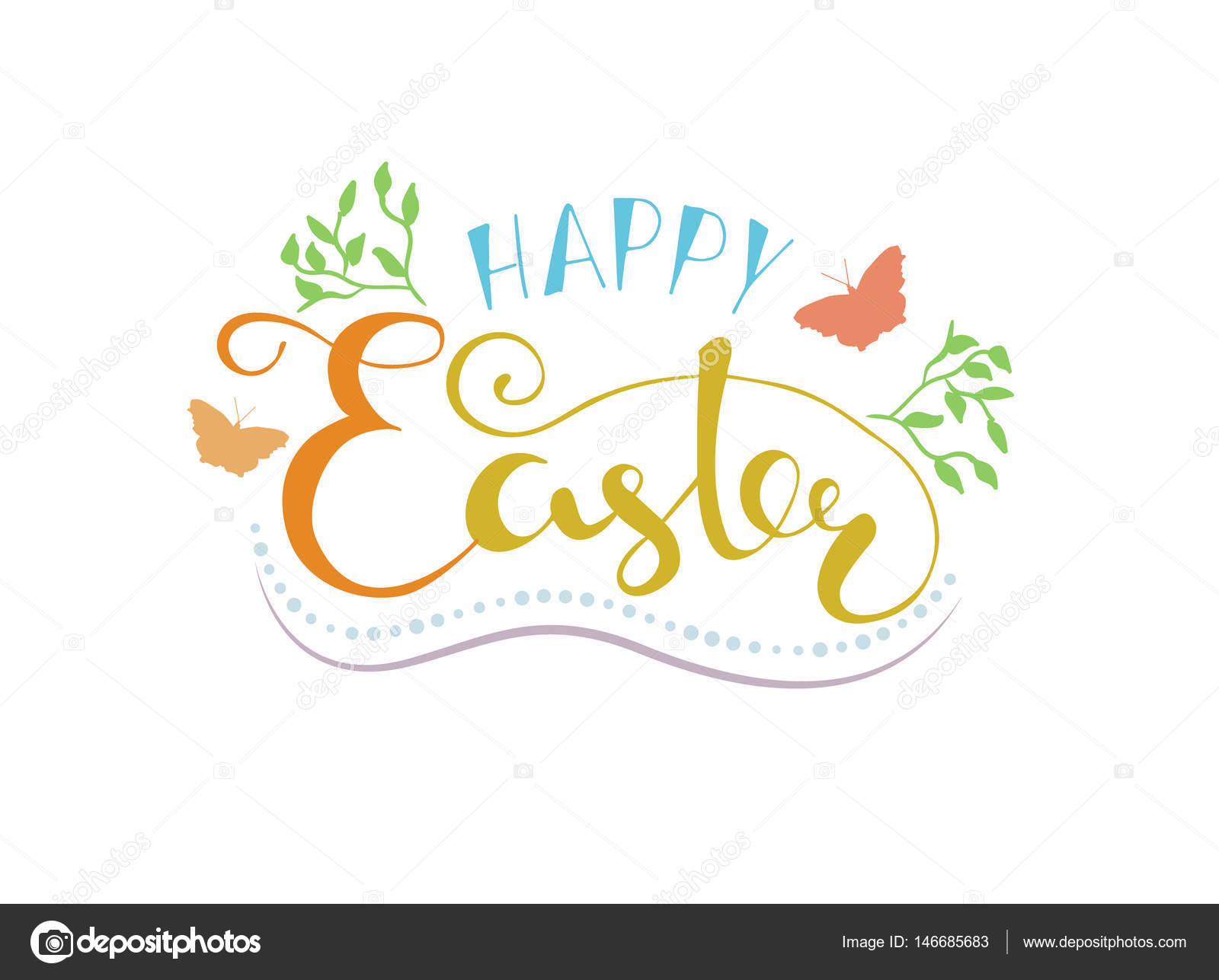 Happy easter lettering typography seasons greetings stock happy easter lettering typography seasons greetings stock vector kristyandbryce Choice Image