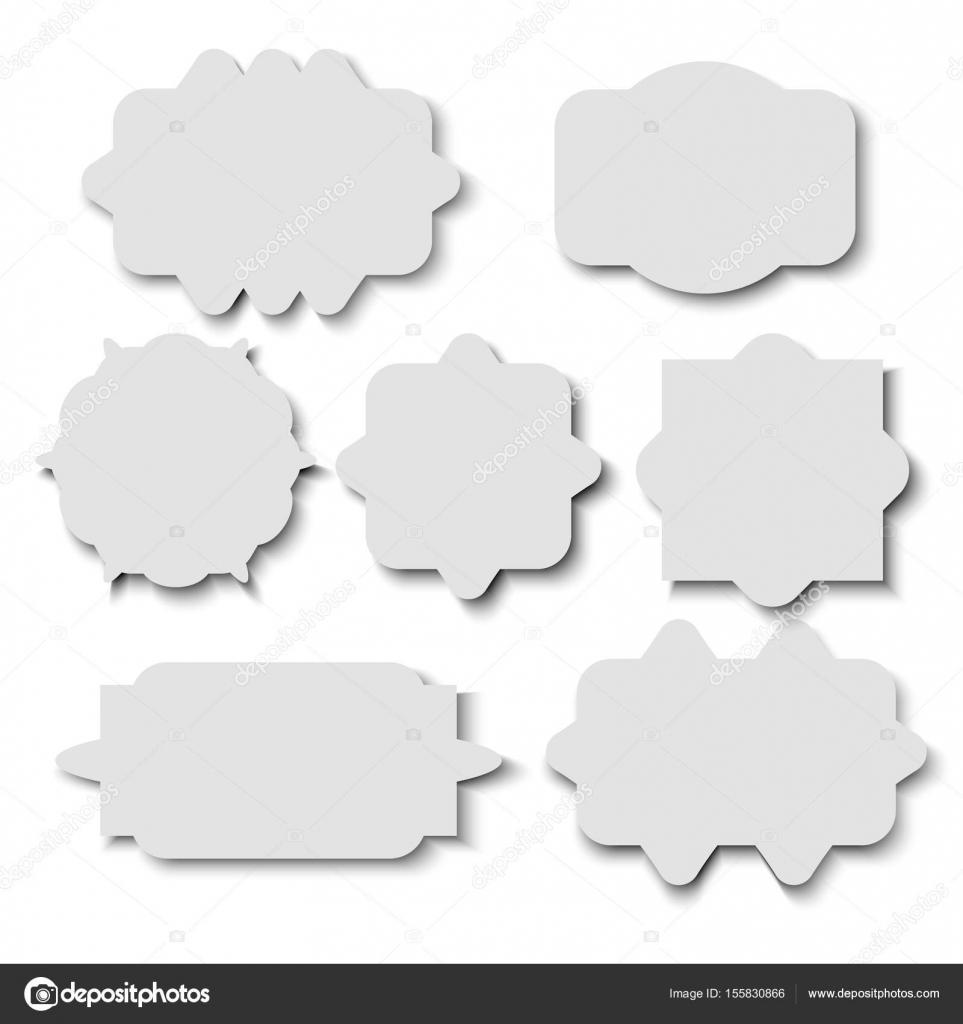 Leere Aufkleber Vorlage auf weißem Hintergrund — Stockvektor ...