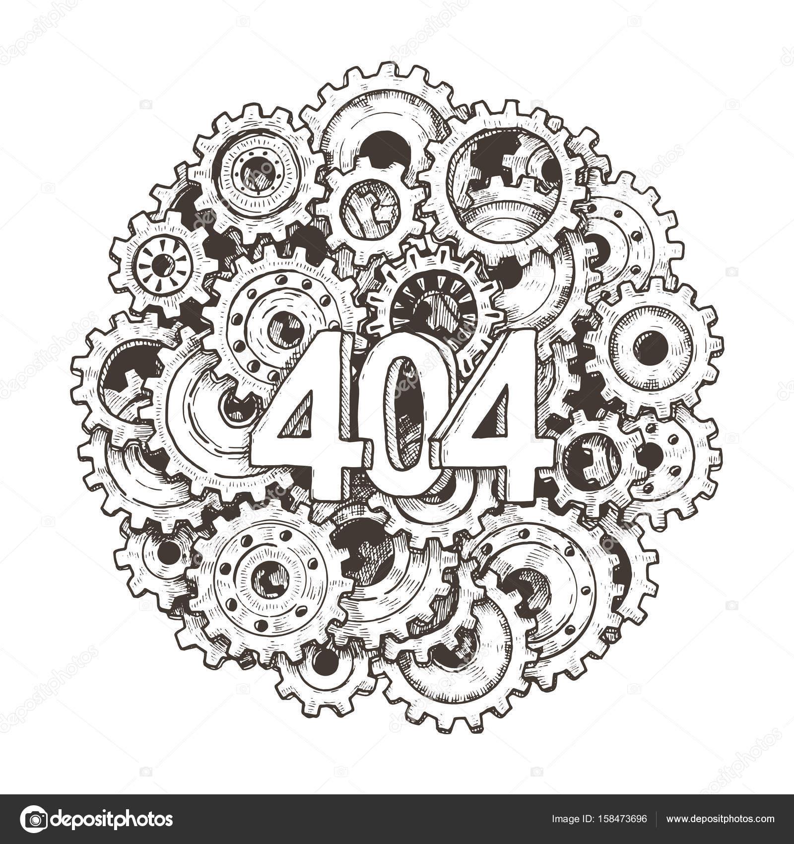 404 error page vector template for website. — Stock Vector © blotty ...
