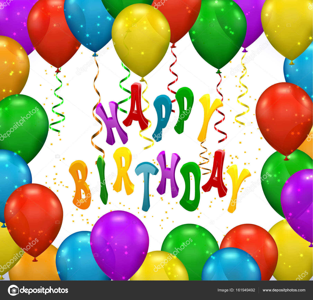 Vector Ballon Voor Feest Verjaardag Stockvector C Blotty 161949492