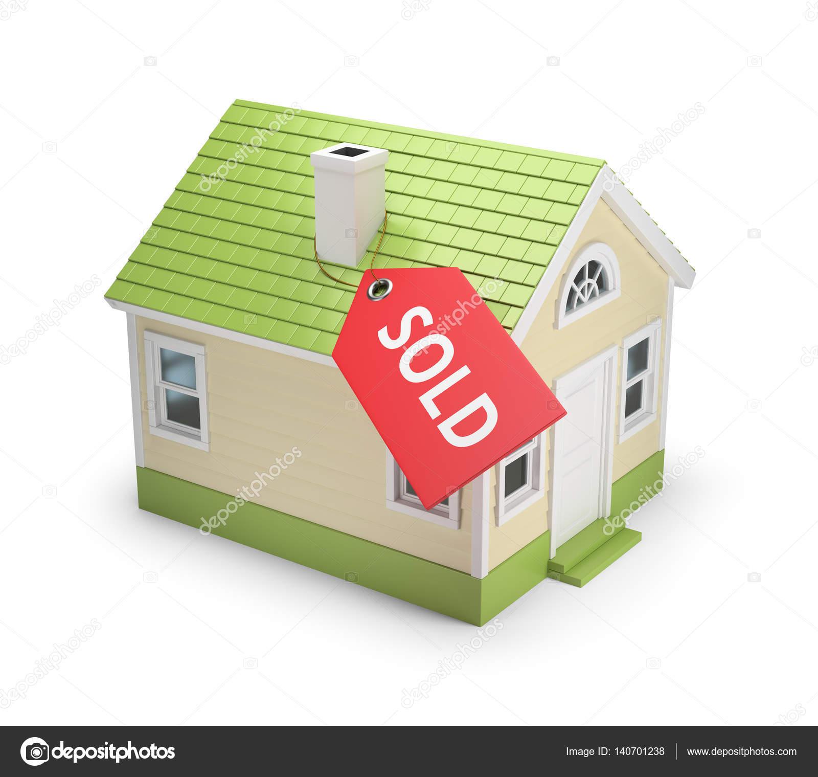 Lovely 3D Haus Verkauft U2014 Stockfoto