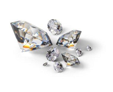 3d isometric diamonds