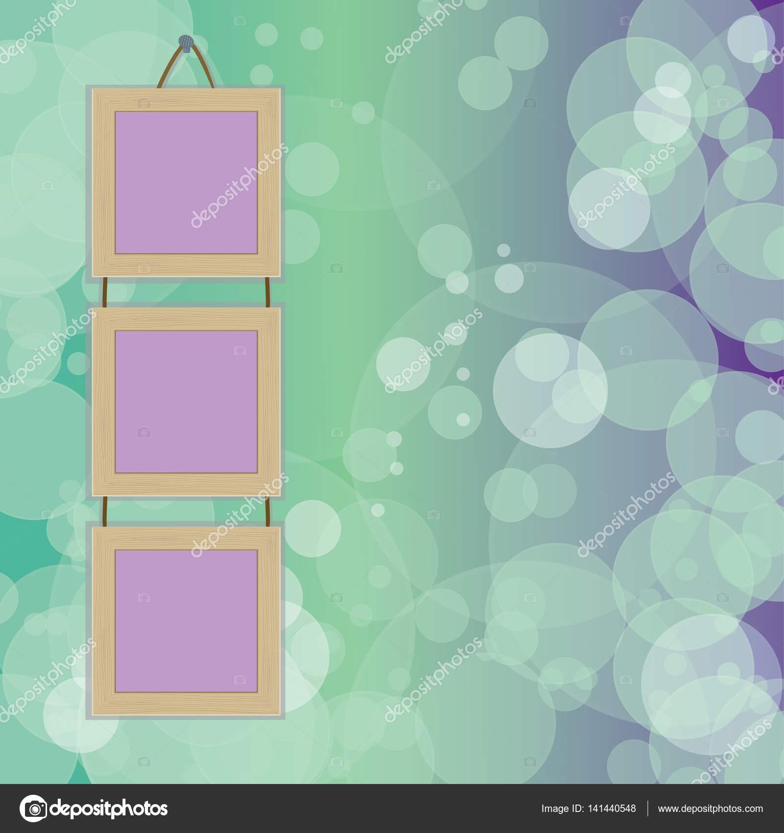 marco para fotos en papel pintado — Vector de stock © Inna_af #141440548