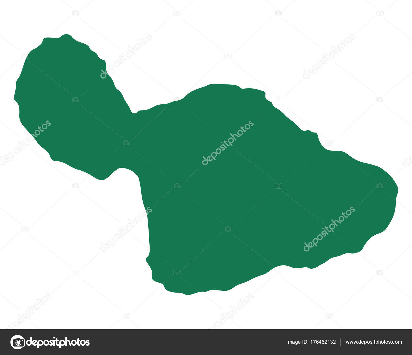 karta maui Korrekt karta över Maui — Stock Vektor © rbiedermann #176462132 karta maui