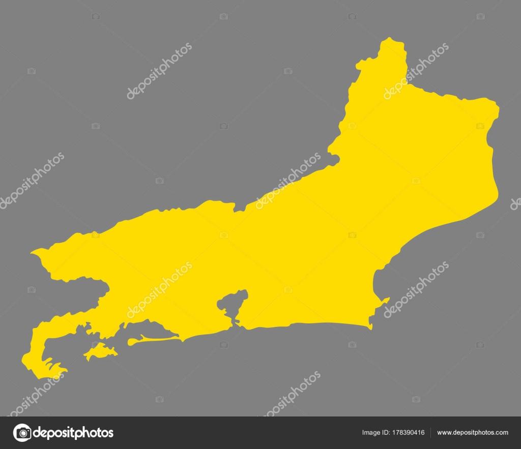 Rio De Janeiro Karte.Karte Von Rio De Janeiro Stockvektor C Rbiedermann 178390416