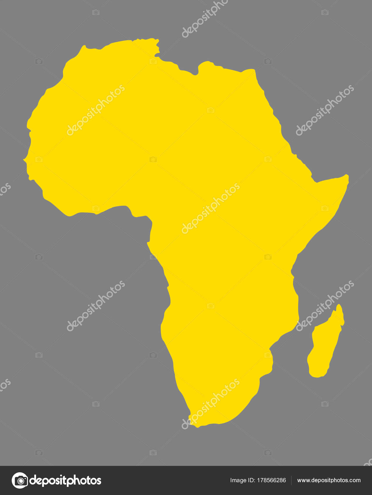 Accurate Map Of Africa.Accurate Map Of Africa Stock Vector C Rbiedermann 178566286