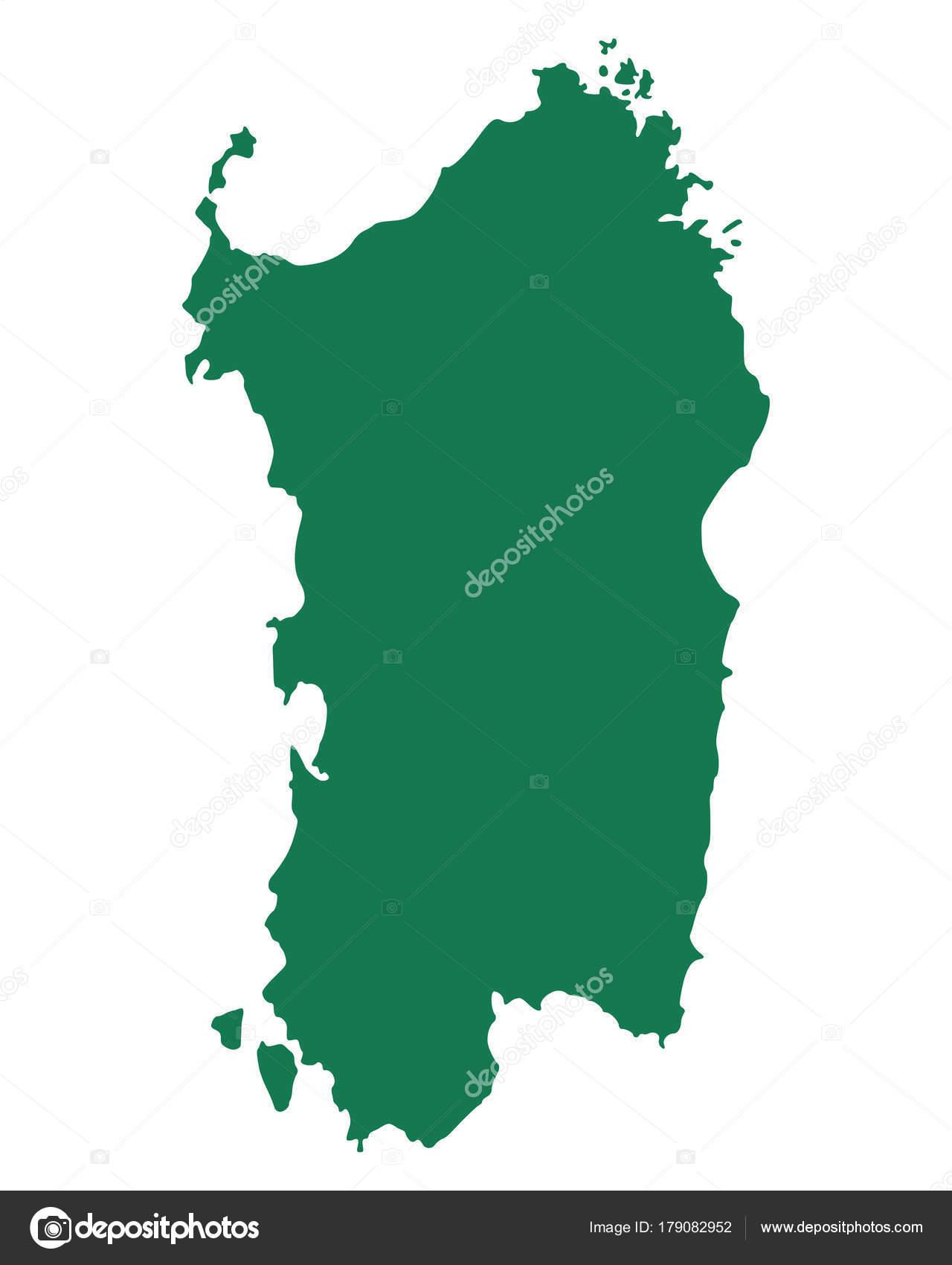 Accurate Map Of Sardinia Stock Vector C Rbiedermann 179082952
