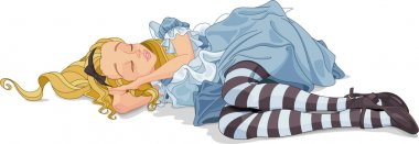 Illustration of Alice sleeping