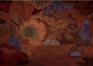 brown cartoon cave