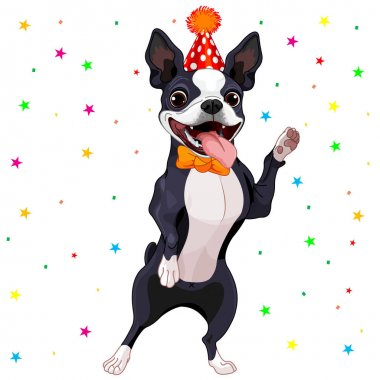 Vector illustration design of cute cartoon dog clip art vector