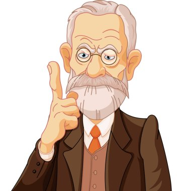 cartoon Sigmund Freud
