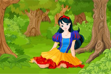 snow white in forest