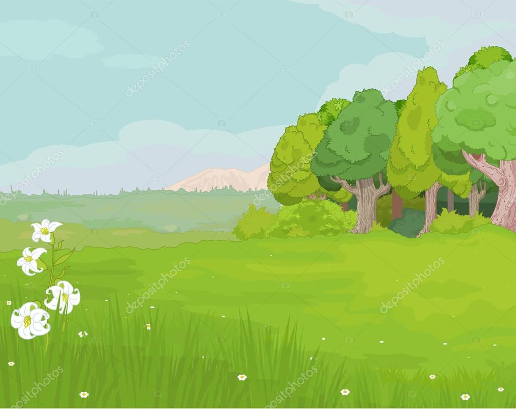 idyllic summer  landscape