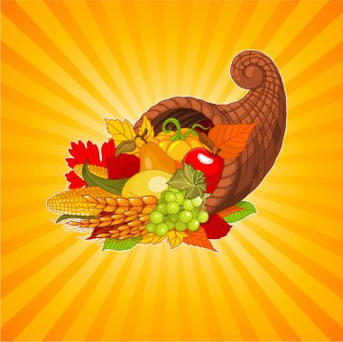 cornucopia full of harvest
