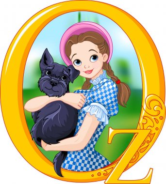 Dorothy and Toto. Illustration