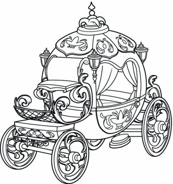 Cinderella fairy tale pumpkin carriage