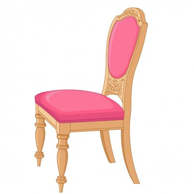 pink antique chair
