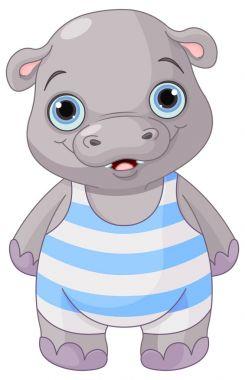 cute baby hippo boy
