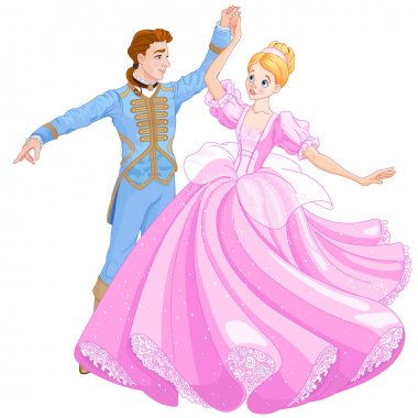 Prince and Cinderella dancing