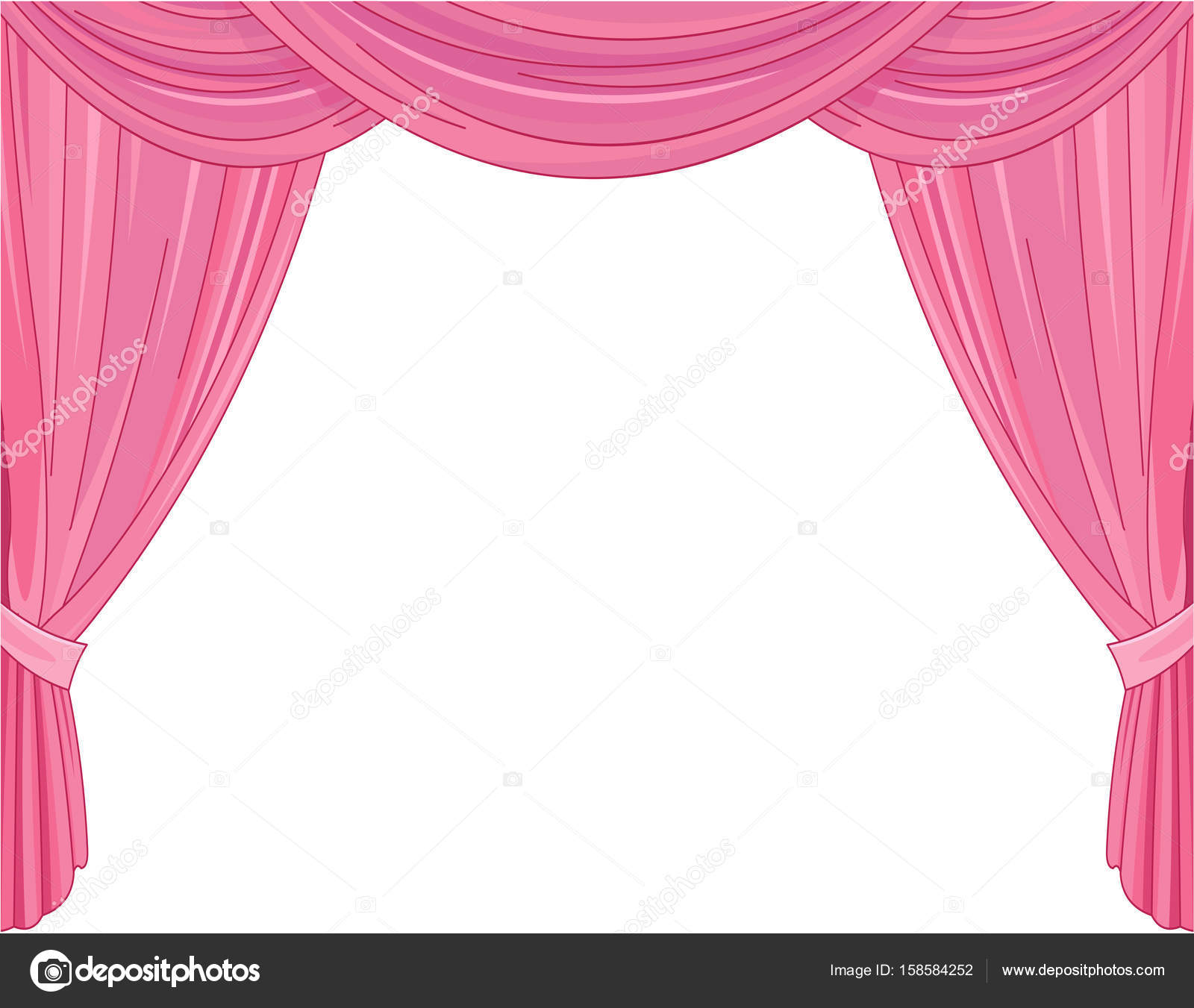 Pink theater curtains — Stock Vector © Dazdraperma #158584252 for Pink Stage Curtains  45hul