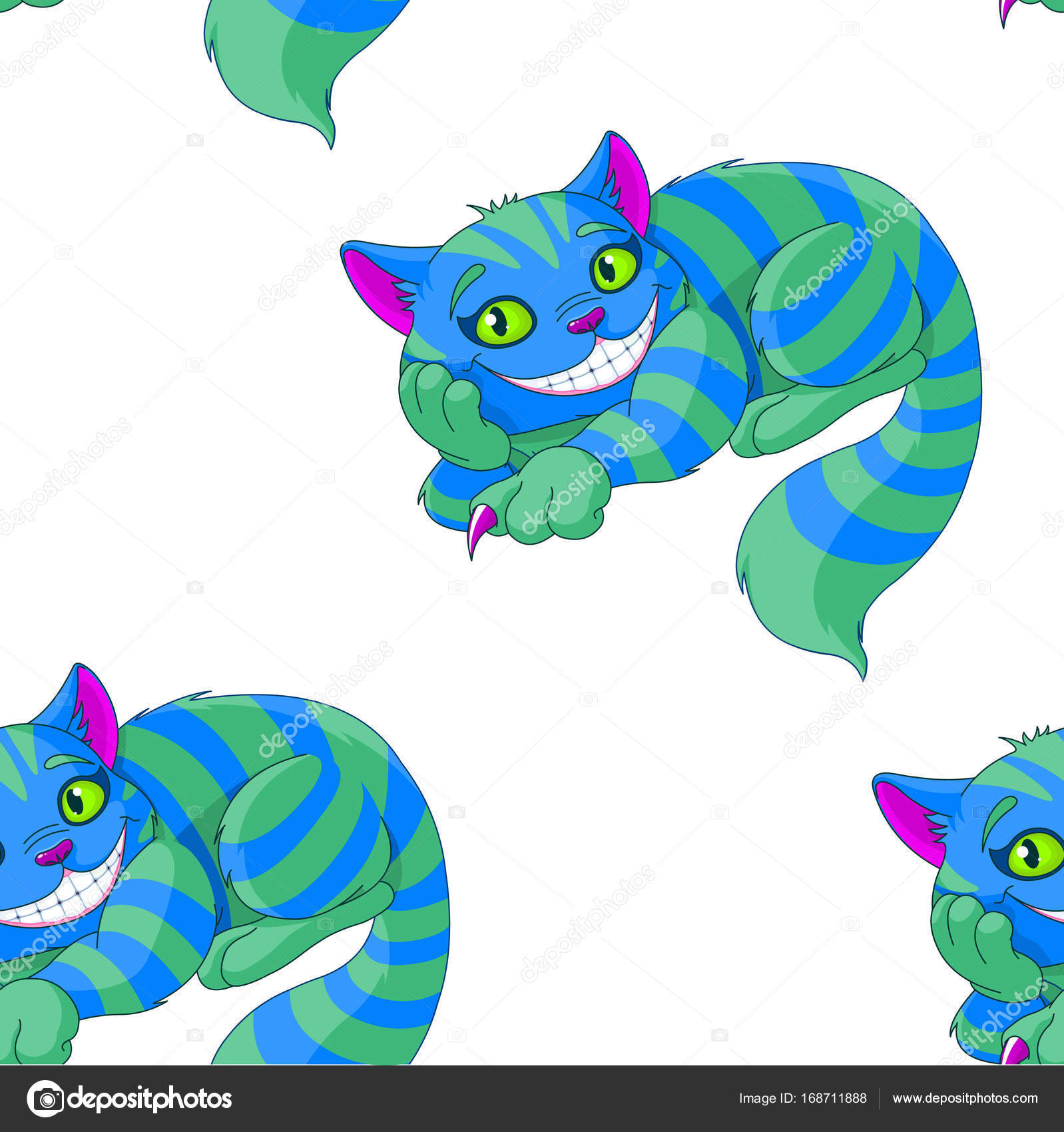 dibujos animados gato de Cheshire — Vector de stock © Dazdraperma ...