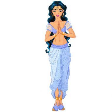 cartoon character  jasmin princess vector illustration