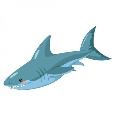 cute cartoon shark vector illustration