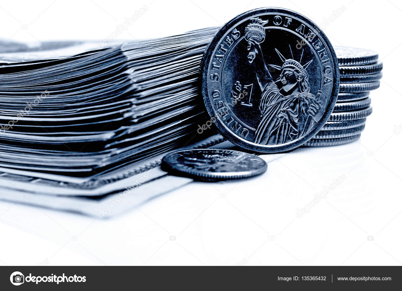 Cash Dollars And Cents Us Stock Photo Rrraum 135365432
