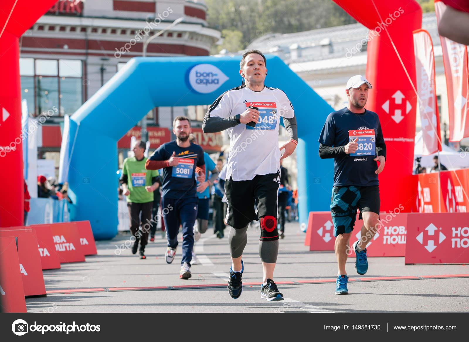 finishers of 5 km distance at the nova poshta kyiv half marathon. 09
