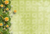 Fotografie Beautiful greeting card with yellow roses