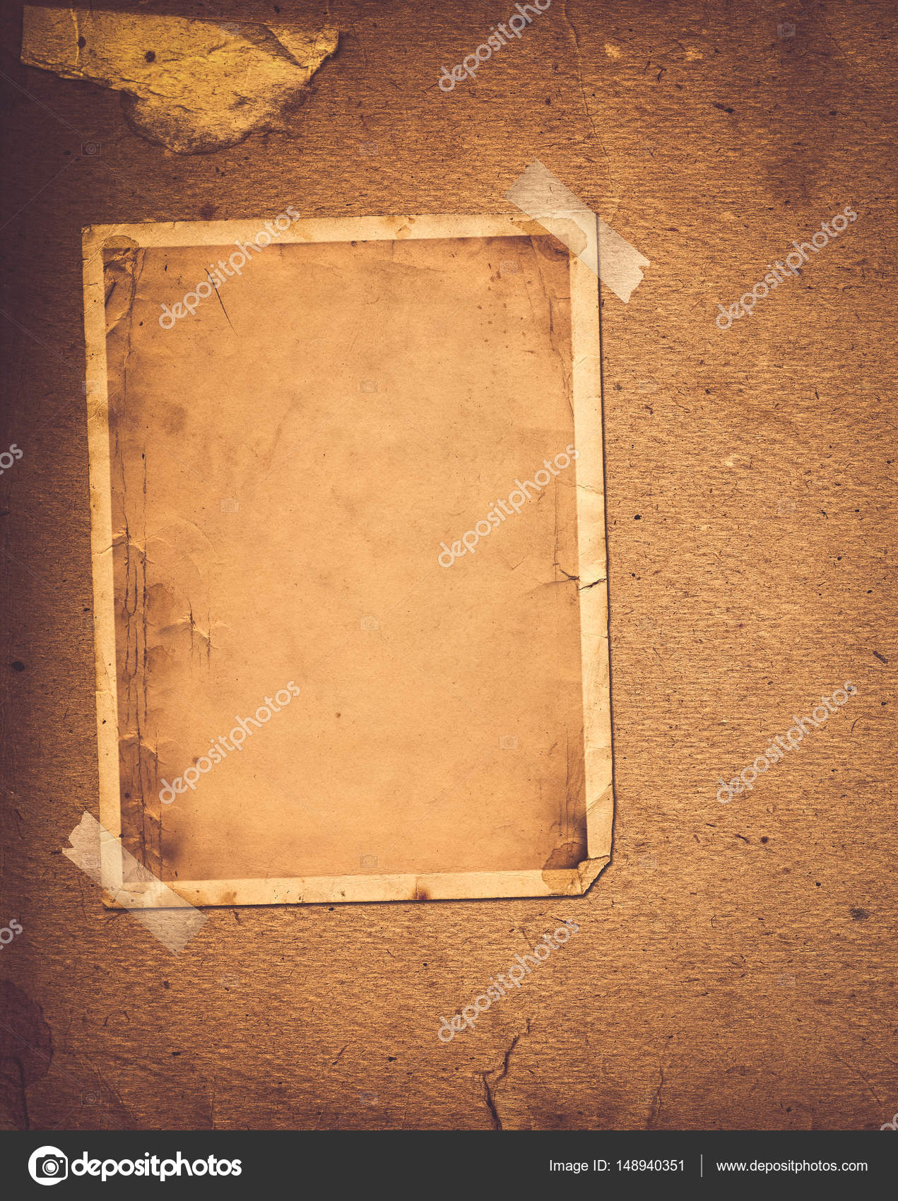 Album Photo Vintage old vintage album with paper frames for photos — stock photo