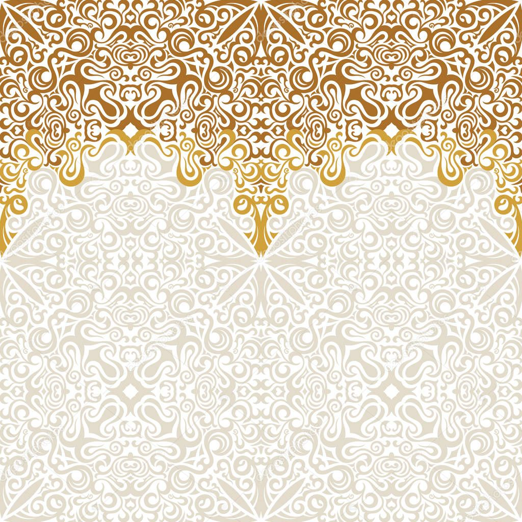 seamless border vector ornate in eastern style islam