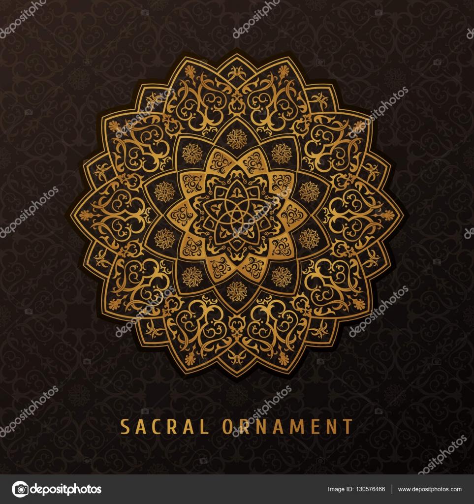 Ethnische Vektor Mandala Design-Muster für Einladungen, Karten ...