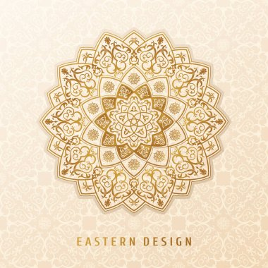 Ethnic vector pattern mandala design for invitations, cards, labels. Round logo and label template. Luxury floral woven