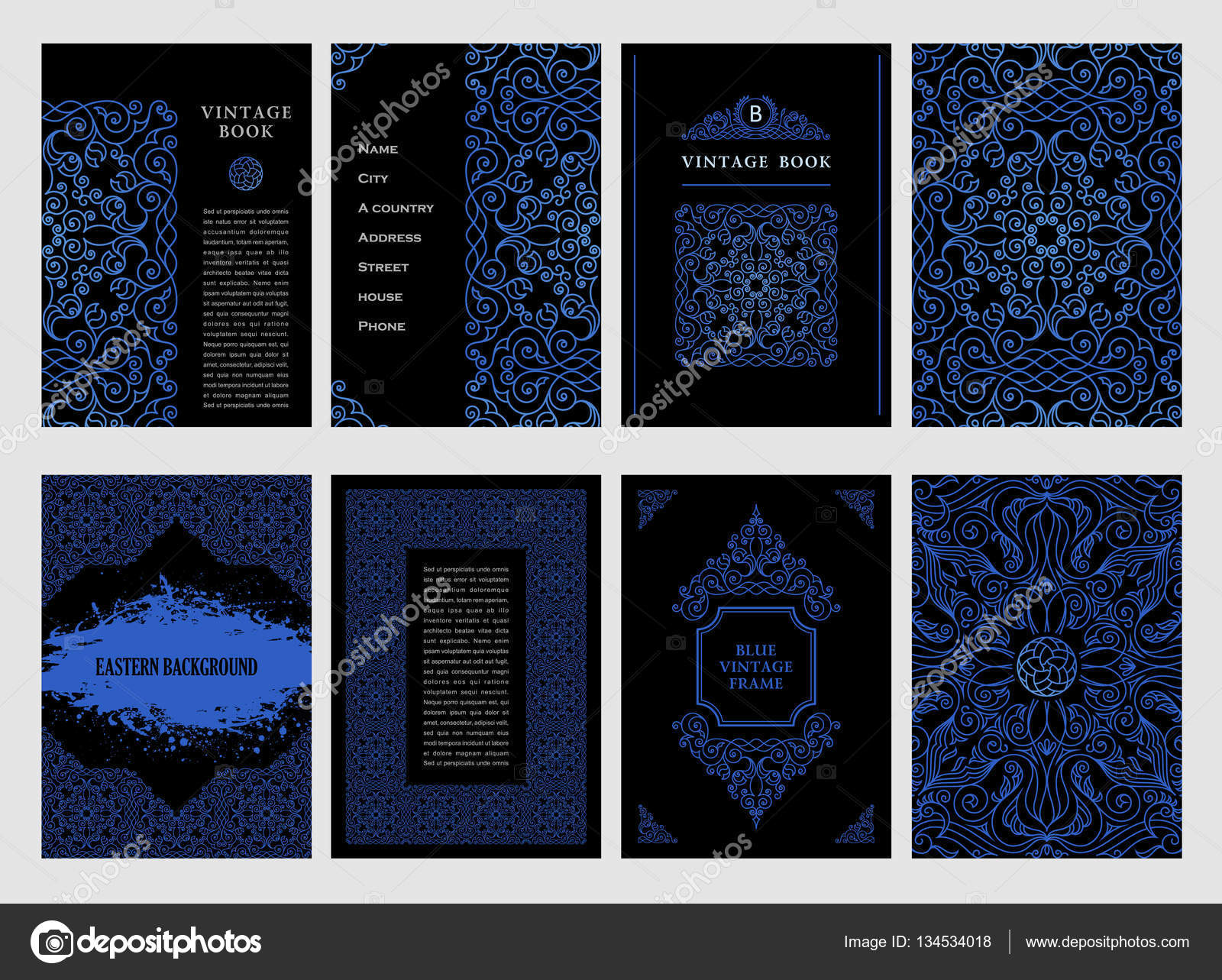 mod les de conception orientale vecteurs arabe bleu lignes musulmane cadre floral pour carte et. Black Bedroom Furniture Sets. Home Design Ideas