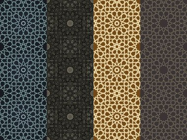 Seamless islamic Moroccan pattern. Arabic geometric ornament