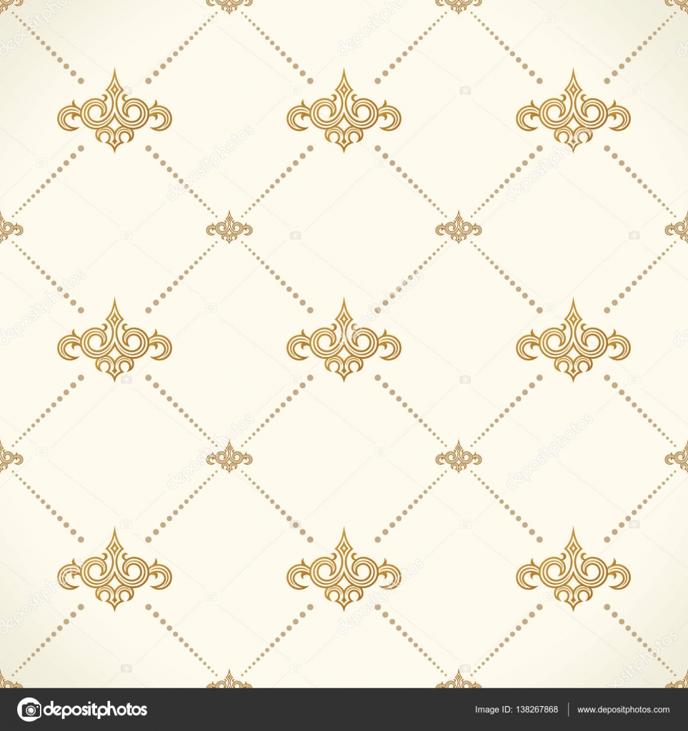 Vector seamless pattern modern stylish texture design in victorian style ornamental baroque - Victorian design style style ...