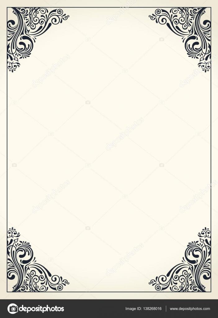 Design Template For Wedding Greeting Card Invitation Menu Stock