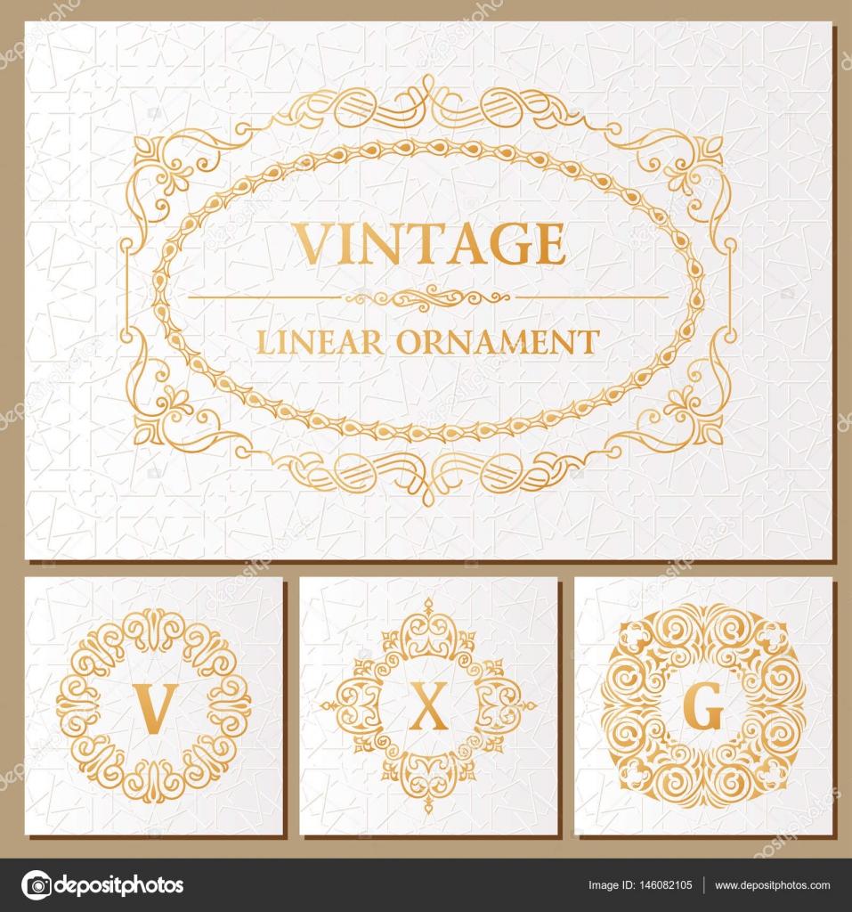 Plantilla Invitacion Retro Vintage Set Tarjetas De Retro