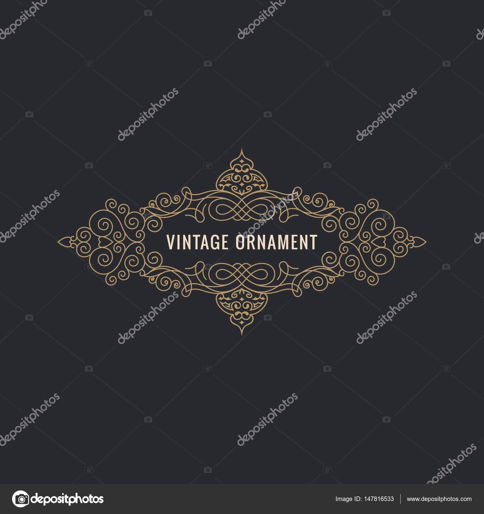 Líneas de caligrafía elegante ornamento de Marcos. Menú del ...