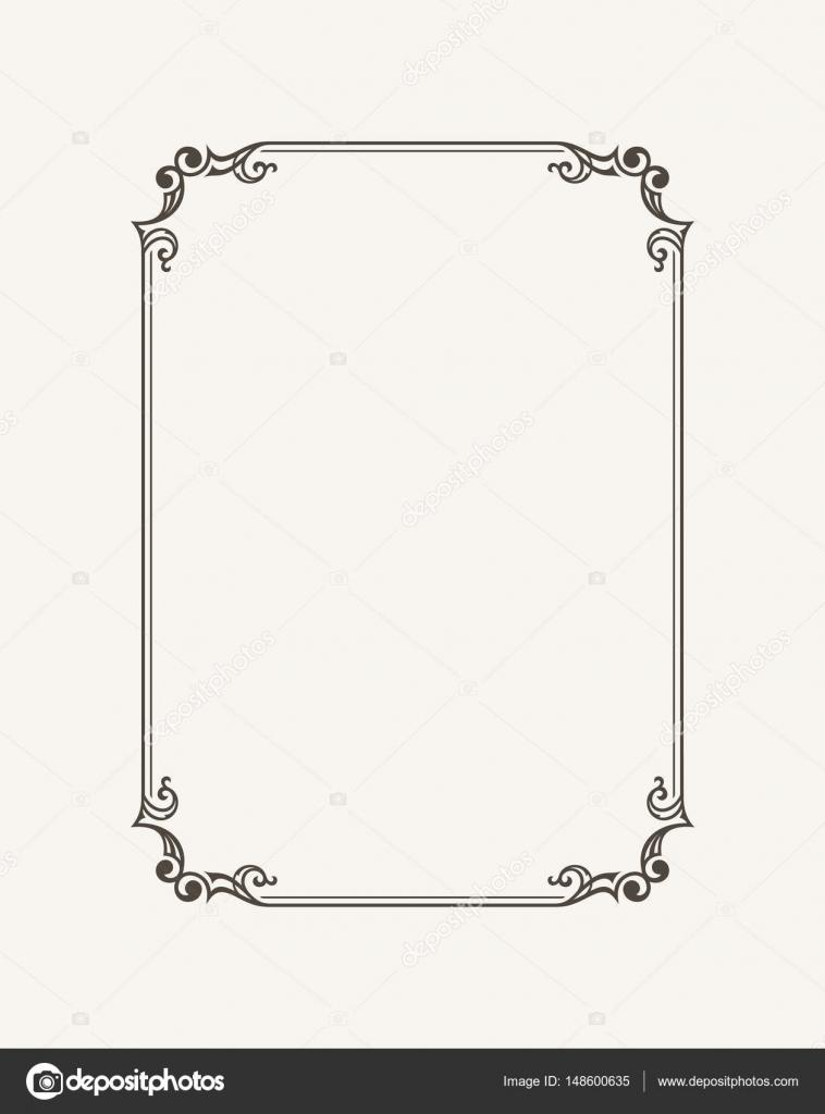 Vintage calligraphic frame black and white vector border of the black and white vector border of the invitation diploma certificate stopboris Choice Image