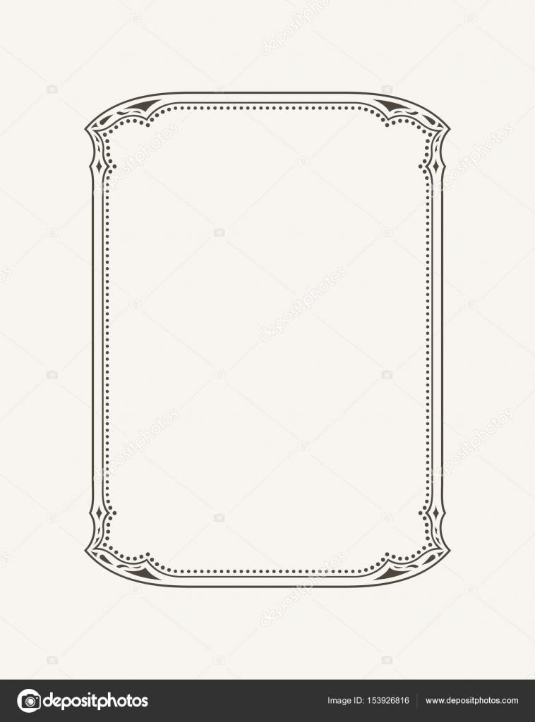 Vintage-kalligraphische Rahmen. Schwarz / Weiß-Vektor-Grenze ...
