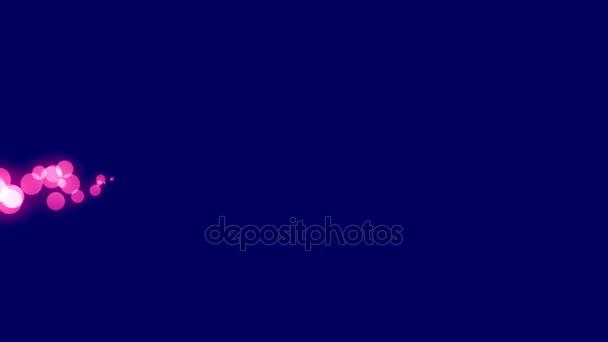 Horizontálně šíří světlé růžové tečky na tmavě modrém pozadí