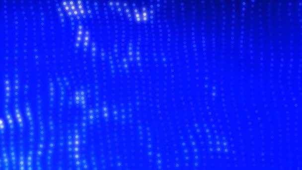 Světlé, hrající svítící tečky na modrém pozadí Hd záběry