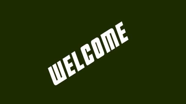 Výzva nápis Welcome v retro stylu
