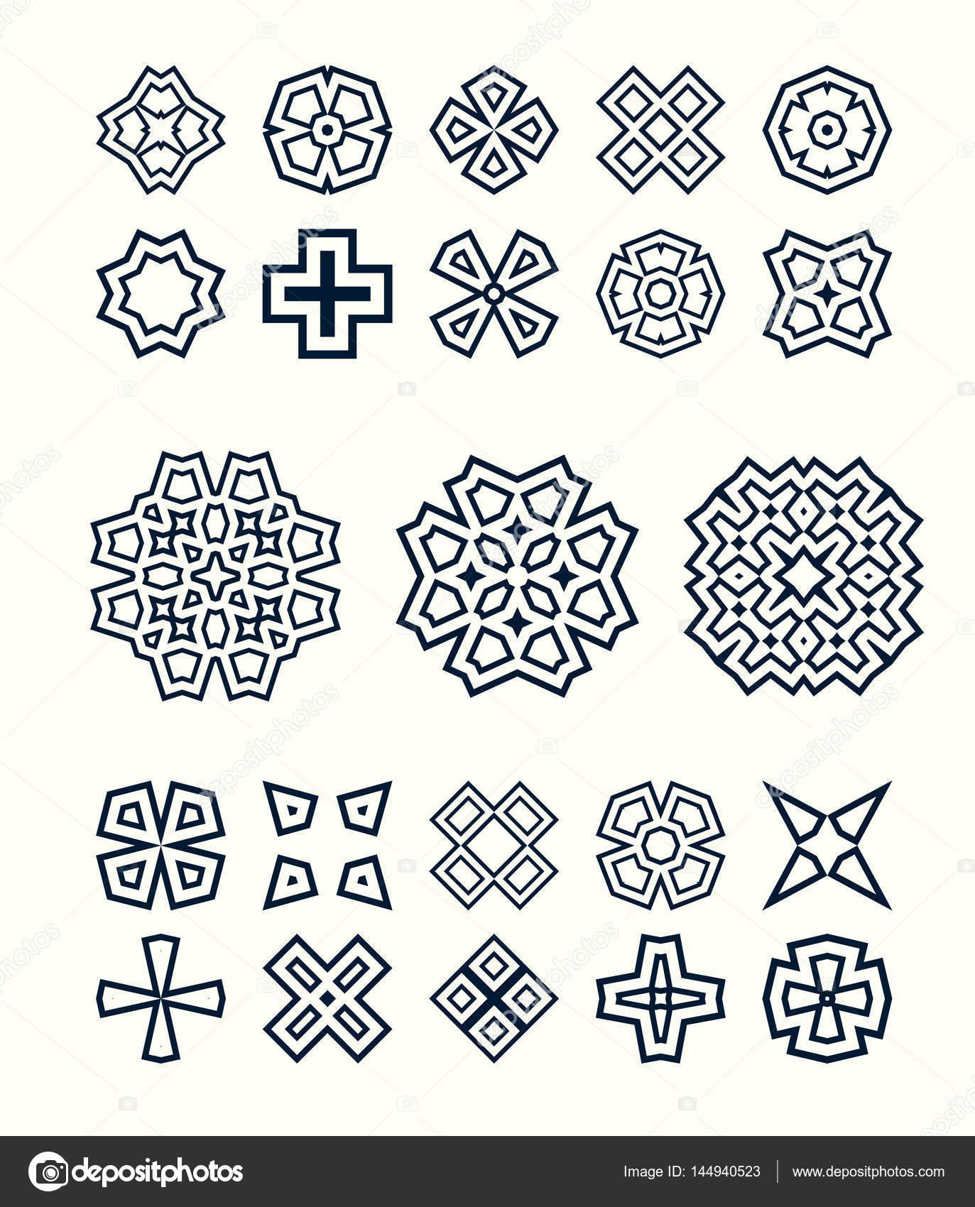 Retro Nahtlose Muster Orientalisch Schwarz
