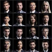 Concetto di collage facce Diverse espressioni persone