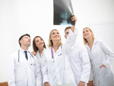 Portrait of happy medical team