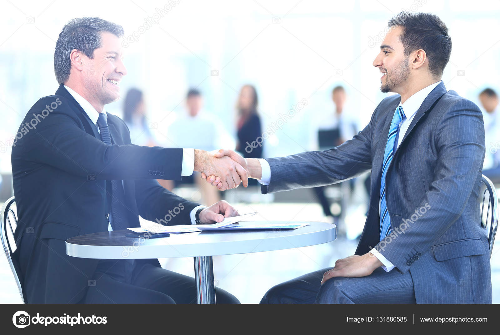 Business people handshake greeting deal at work photo free download - Business People Meeting Discussion Corporate Handshake Concept Stock Photo 131880588