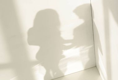 white room with dim shadow couples.background.